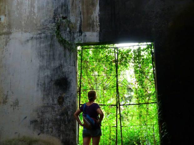 Cambodia Abandoned Pepsi Factory Doorway